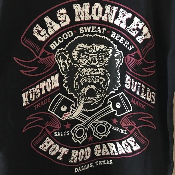 dc19049b Hot Pet Shirts | Gas Monkey Unisex Hot Rod Garage Black Tshirt L ...
